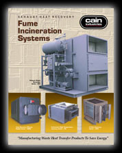 Cain Industries Fume Incineration Systems PDF Brochure