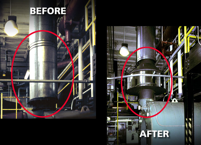 FCR Boiler Economizer Before & After Installation