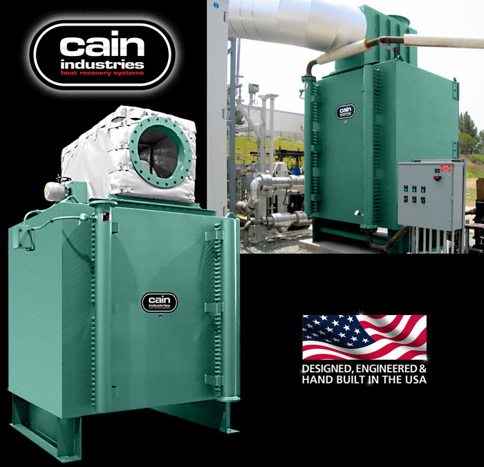 Cain Industries HRSR (Heat Recovery Silencer Radial) Fume Incineration